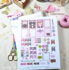 Forest Friends Planner Stickers | Free printable, for perrsonal use only