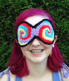 Hypnotic Sleep Mask crochet pattern