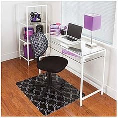 view white glass desk deals at big lots 59