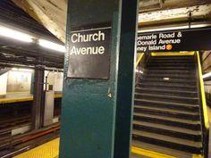 Church Avenue column sign