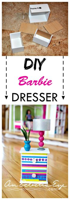 Barbie 1:6 scale dresser out of Iphone box!