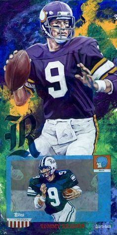Tommy Kramer autographed limited edition print (With images) College Football Teams, Best Football Team, Football Art, Football Helmets, Football Stuff, Vintage Football, Equipo Minnesota Vikings, Minnesota Vikings Football