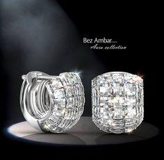 Bez Ambar's Blaze® diamond Hug earrings. #diamondjewelry #blazecutdiamonds www.bezambar.com