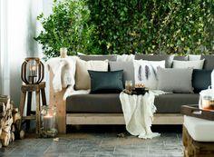 Romantische, knusse tuin - Tuinkussens op maat bij Leen Bakker voor de achtertuin