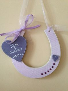1000 images about wedding horseshoes gifts on pinterest for Wooden horseshoes for crafts