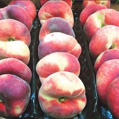 What's so great about the Flat peach or (doughnut peach) as some like to say?! 1. They taste better than other peaches 2. They're sweeter with almond overtones. 3. They are lower in acid than round peaches. 4. The pit doesn't cling to the flesh, so it's easy to pop out with your thumb! 5. Kids love them! #CSL #Countysupplies #fresh #fruit #peach #doughnut #flat #comegetme #truechefs #foodies