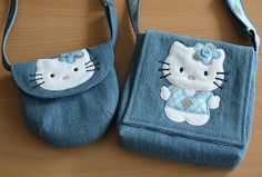 Made by Irinelli: Kitty Handtaschen: Made by Irinelli: Kitty Handtaschen:,You can find Kitty and more on our website.Made by Irinelli: Kitty Handtaschen: Made by Irinelli: Kitty Handtaschen:, Denim Handbags, Denim Tote Bags, Denim Purse, Hello Kitty Purse, Diy Bags Purses, Denim Crafts, Patchwork Bags, Fabric Bags, Girls Bags