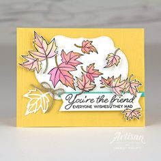 Artisan Design Hop - Color Your Season Promotion Falling Leaves card featuring the Blended Seasons Stamp set. Charlet Mallett - Stampin' Up! Leaving Cards, Leaf Cards, Cards For Friends, Friend Cards, Beautiful Handmade Cards, Paper Cards, Cards Diy, Fall Cards, Card Making Inspiration