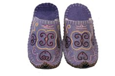 T02D Violet Manas Felt Slippers, Improve Blood Circulation, Traditional Design, Felting, Barefoot, Sneakers, Collection, Fashion, Tennis
