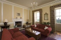 The cosy drawing room at Berry House, country house hire in north devon.
