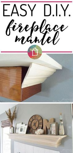 Hate your current mantel? With just a few pieces of molding, a board, and a few hours you can create this DIY fireplace mantel with a…
