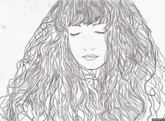 sweetvisage:    My drawing process :)  (Pen and pencil illustration/drawing exerciseI did back in 2011)