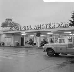 Schiphol Airport in Amsterdam. Amsterdam Holland, Amsterdam City, Air Traffic Control, The Old Days, Old Pictures, Street Photography, Netherlands, Aviation, History