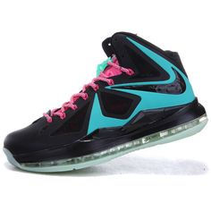 hot sale online 84e11 18707 Nike Lebron X 10 Sneakers Glow in the Dark Black Blue AML-136 via