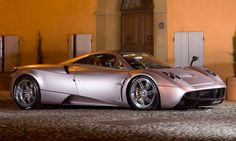 Named after a South American wind god Huayra-tata, the Pagani Huayra is an Italian mid-engined sports car produced by Pagani.  The Huayra produces over 700 hp and has a top speed of 230 mph.