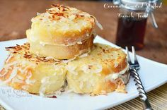 Coconut Crusted Stuffed French Toast Recipe on Yummly