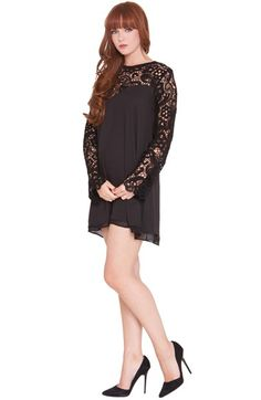 Olian'Vero' Lace Sleeve Maternity Dress available at #Nordstrom