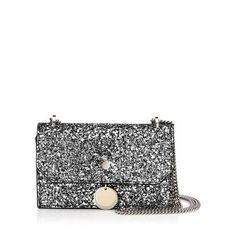 f7a0b8649b7 Finley Gunmetal Mix Star Coarse Glitter Fabric Cross Body Mini Bag