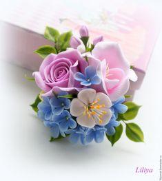 Polymer Clay Flowers, Ceramic Flowers, Polymer Clay Charms, Polymer Clay Jewelry, Fondant Flowers, Sugar Flowers, Felt Flowers, Paper Flowers Craft, Flower Crafts
