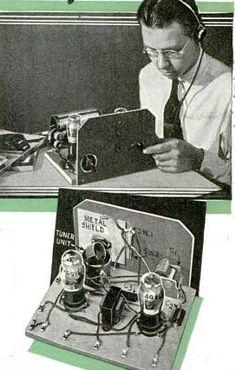 1940 Two-Tube Two-Band Receiver Radios, Diy Electronics, Electronics Projects, Qrp, Radio Wave, Antique Radio, Circuit Diagram, Ham Radio, Tube
