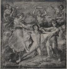 "Pentheus meeting his fate for being too prideful. ""Pentheus Killed by the Bacchantes. - Photo from http://images.pharosartresearch.org/source/frick"
