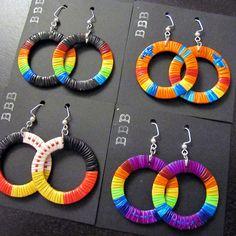 Quill Hoop Earrings by Lonna Jackson (Dakota/Chippewa)