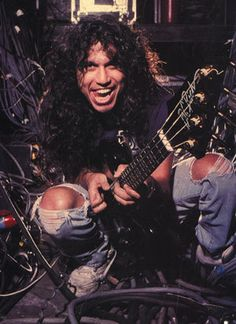 Tom Araya - I remember this pic from one of my metal magazines. Can't remember which one, there were a lot of them I read (Metal Edge, RIP, Hit Parader, Metal Mania, etc).