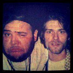Kurt Cobain and João Gordo (Ratos de Porão) 1991.