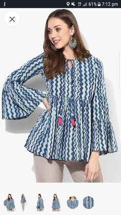 Short Kurti Designs, Simple Kurti Designs, Kurta Designs Women, New Kurti Designs, Tunic Designs, Designs For Dresses, Kurta Neck Design, Frock Fashion, Stylish Dresses For Girls