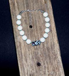 Armbänder - Armband weiss petrol 925Sterlingsilber - ein Designerstück von perlenchris bei DaWanda