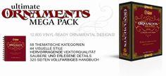 ultimate, mega-pack, vinyl-ready, ornaments, ornamental art, decorative vector images, vector cliparts, cuttable graphics