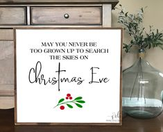 May you never be too grown wood sign | Christmas farmhouse sign | Christmas decor | rustic Christmas decor | wood sign | Christmas skies