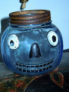Rare Blue Glass Jack. . . .OH HOW I WOULD LOVE TO HAVE THIS FOR MY COLLECTION OF JACK'S. . . . .