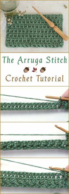 The Arruga Stitch Crochet Tutorial #crochetstitches #CrochetTutorial