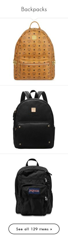 """Backpacks"" by yabishtea ❤ liked on Polyvore featuring bags, backpacks, backpack, mcm, black, laptop bags, zip bag, laptop rucksack, backpack bags and monogrammed backpacks"
