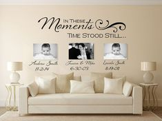 In These Moments Wall Decal Wall Decal by AmandasDesignDecals