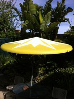 How Fun Would One Of These Be Mid Century Fibergl Patio Umbrella
