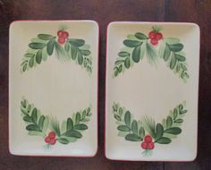 "4 available of Gail Pittman ~ Southern Living Home ~ Christmas Memories 8"" Appetizer Tray  $18 each or $64 for the set of 4"