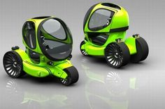 Future Transportation - Futuristic Three-Wheeled