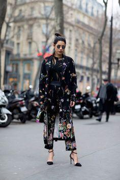 Street style : les looks vus à la semaine de la haute couture printemps-été 2017 - Street style : les looks vus à la Fashion Week haute couture printemps-été 2017