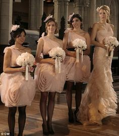 Vera Wang White Collection, such beautiful bridesmaid dresses