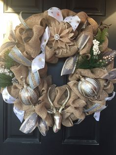 Christmas Wreath by DonellasWreathDesign on Etsy
