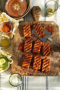 Vegan Summer BBQ, anyone? Seared tofu with date barbecue sauce recipe, from Pure Vegan