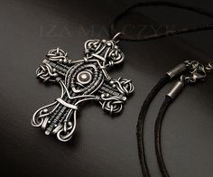 Omnia unique cross pendant in fine and sterling silver by Iza Malczyk, $269.00 on Etsy