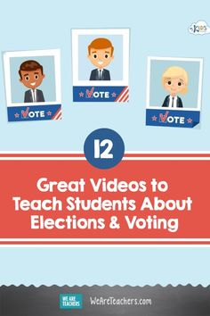 Want more ways to teach kids about the election? Check out these 12 videos! Tools For Teaching, Student Teaching, Teaching Kids, Kids Learning, Social Studies Projects, Social Studies Activities, My Future Career, Election Votes