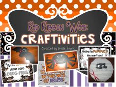 crafts & printables for Red Ribbon Week