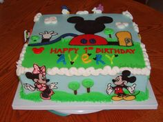 mickey mouse clubhouse birthday cake -