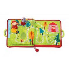 A la recherche d'un cadeau de naissance pour éveillez les sens de bébé? Ouvrez ce livre d'activité Lilliputiens et découvrez le célèbre conte du petit chaperon rouge. Page après page, accompagnez-le dans son aventure.