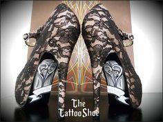 Custom Wedding/Anniversary Shoes by TheTattooShoe on Etsy, $200.00