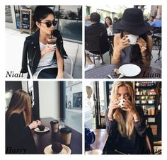 """""""Coffee date"""" by perfectharry ❤ liked on Polyvore featuring art"""